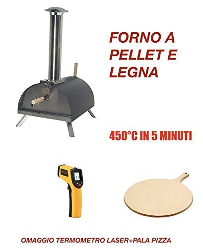 Forno per Pizza A Pellet, Legna. 450°C in 5 Minuti! 2 OMAGGI!