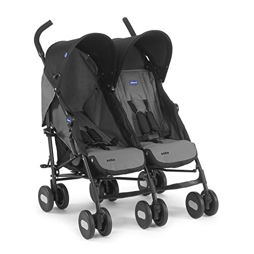 Chicco Geschwistersportwagen Echo Twin, coal black