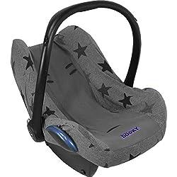 Dooky - funda para asiento de bebé, patrón de estrellas color gris