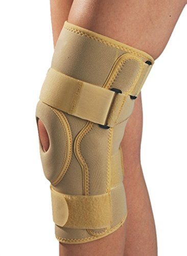 KUDIZE Functional Knee StabilizerKnee Support Compression muscle Joint Protection Gym Wrap,Large(Beige)