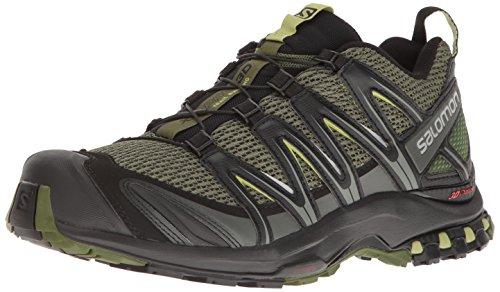 Salomon Xa Pro 3d Gtx Zapatillas de Running Hombre, Verde (Chive/Black/Beluga), 42 2/3 EU