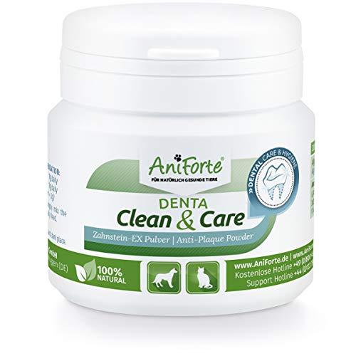 Denta Clean & Care Powder 80g. para Perros y Gatos | Producto Natural para el Cuidado de Dientes | Dientes Blancos, Aliento Fresco, Prevención de Placa | Formula Mejorada | AniForte