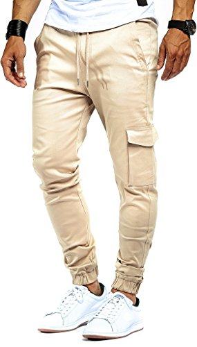 LEIF NELSON Herren Jogger Chino Cargo Jeans Hose Freitzeithose LN8071;...