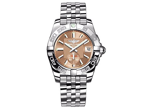 Breitling Galactic 36Damen Automatik Uhr mit Braun Zifferblatt Analog-Anzeige und Silber Edelstahl Armband A3733012/q582/376A