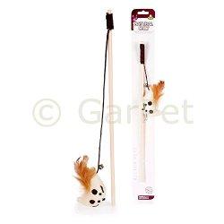 katzeninfo24.de Natural Only Katzenspielzeug Spielangel Maus Katze Katzenangel Katzen Spielzeug