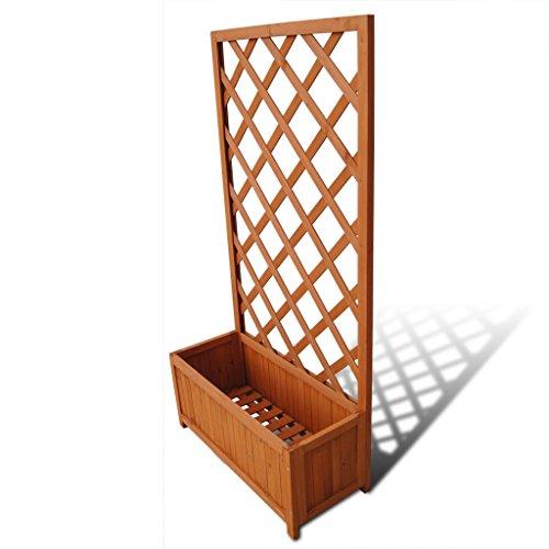 vidaXL Holz Blumenkasten mit Rankhilfe 70cm Rankgitter Rosenbogen Blumenkübel