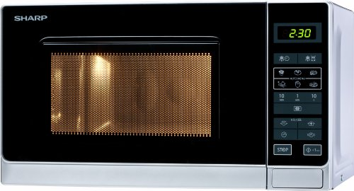 Sharp R242INW – Microondas, 20 l, control táctil, 800 W
