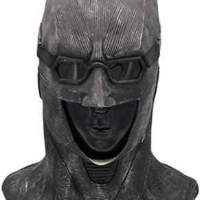 DSFGHE Batman Latex Mask Cosplay Dark Knight Masquerade Party Costume Prop Máscara De Halloween,Black-OneSize