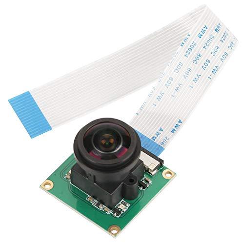 Akozon Raspberry Pi 3 Camera, Modulo per Fotocamera da 5 Megapixel ad Alta Definizione Night Vision Modulo Camera Infrarossi ad Angolo Grandangolare 175 ° Fish Eye per Raspberry Pi B 3/2