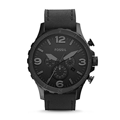 Fossil Herren Analog Quarz Uhr mit Leder Armband JR1354