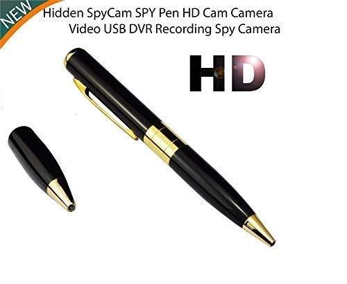 Maruti Spy Pen Camera DVR HD 720P Video Recorder Spy Hidden Camera Pen Dvr Business Portable Recorder Silver&Gold with Free One Pen Cap