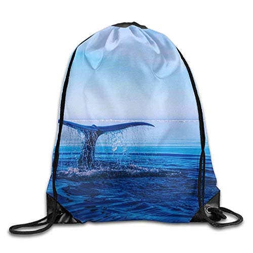 Etryrt Zaino con Coulisse,Borse Sacca,Sacchetto Humpback Whale Cute Gym Drawstring Bags Travel...