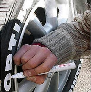 Reifenmarker für Auto, Fahrrad, Sport, Tuning, Weiß