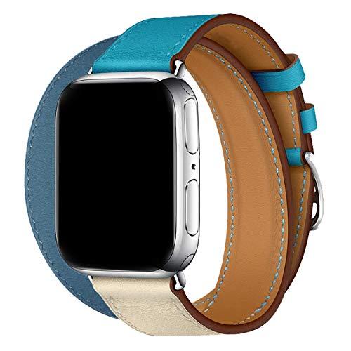 MroTech Cinturino 40 mm 38 mm Watch Band Cinturini in Pelle Vera di Ricambio per Smartwatch Series 4...