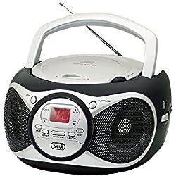 Trevi CD 512 Lettore CD Portatile con Radio e AUX-IN, Nero