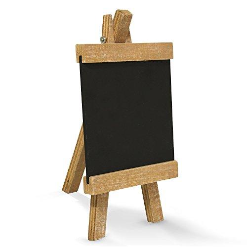 Piccola lavagna su cavalletto di legno, 10x 18cm, ideale come decorazione da tavolo, scrivibile...