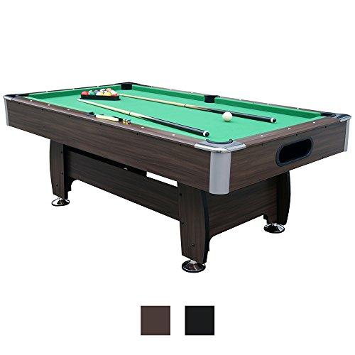 Jalano Billardtisch 7ft Snooker in 2 Farben Pool Billiard Set inkl. Zubehör 214 x 122 x 82 cm (LxBxH) - 7 Fuß Tischbillard mit Kugelrücklauf