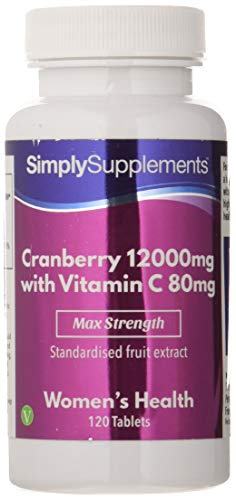 Arándanos rojos 12000mg – ¡Bote para 4 meses! - Apto para veganos – 120 comprimidos – Simply Supplements
