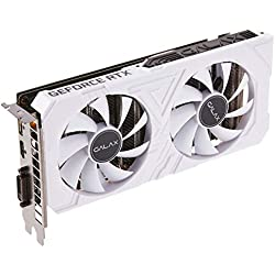 GALAX GeForce RTX 2060 EX White (1-Click OC) 6GB GDDR6 192-bit DP/HDMI/DVI-D Graphics Card with RGB Effect & Backplate