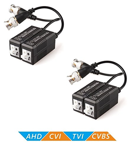 MBro 0Passive Video Balun Transmitter & Transceiver with Cable - 2 Pairs