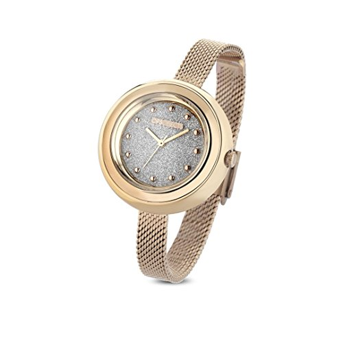 OPS!OBJECTS Bon Bon Glitter, Orologio da polso Donna 34 mm, Coloro Oro, OPSPW-415