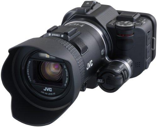 JVC GC-PX100BEU Videocamera Full HD, Sensore CMOS Retroilluminato da 1/2,3' 12M, Fotocamera da 12 MP, Obiettivo F 1.2, Zoom Ottico 10x, LCD Touch Panel da 3', Nero