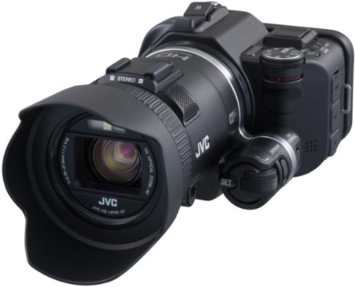 JVC GC-PX100BEU Videocamera Full HD, Sensore CMOS Retroilluminato da 1/2,3' 12M, Fotocamera da 12...