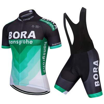 WOLFIRE WF Abbigliamento Ciclismo da Uomo. Culotte e Maillot. con Gel Pad 5D. per MTB, Spinning,...