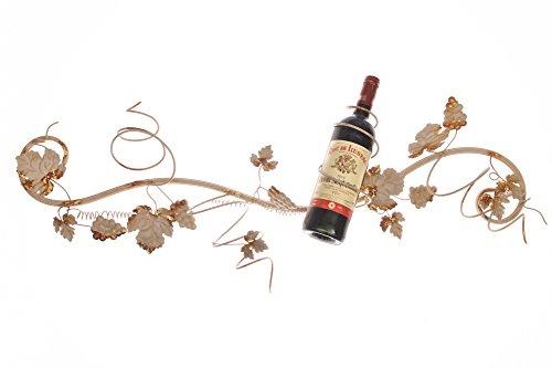 Shabby chic Cream Wine Holder Wall Art Decor | Dimensioni: 39 * 92 * 12cm | salvaspazio | contiene...