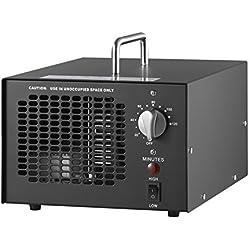 Generatore di ozono professionale 10000 mg/h, timer regolabile, purificatore d'aria perfetto per la vostra auto o cucina, disinfezione, riduzione della formaldeide e per eliminare gli odori in bagno