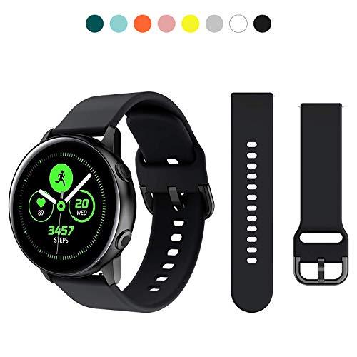 kytuwy Cinturino Compatibile con Samsung Galaxy Watch Active/Active2/Galaxy Watch 42mm/Gear S2 Classic, 20mm Silicone Cinturino di Ricambio per Galaxy Active 40mm/Active 2 40mm 44mm Smart Watch