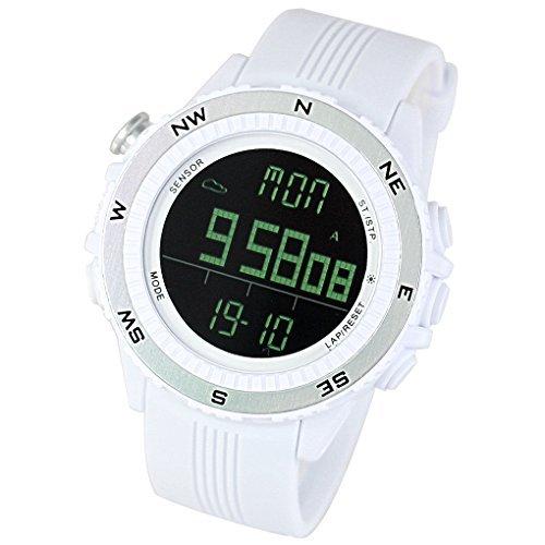 [LAD WEATHER] Sensore tedesco bussola digitale Previsioni del tempo Altimetro Barometro Cronografo Multifunzione orologi sportivi/all'aperto (Alpinismo/a piedi/Campo) Orologio da polso