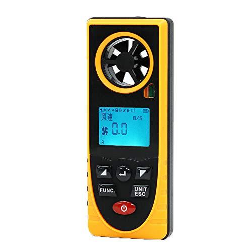 FVAL Anemometro Digitale Portatile velocità del Vento Misuratore di Temperatura Misuratore di Vento Strumento di Misura LCD (30m/s)