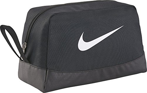 Nike Club Team Swoosh Toiletry Bag Beauty Case, 27 cm, Nero (White)