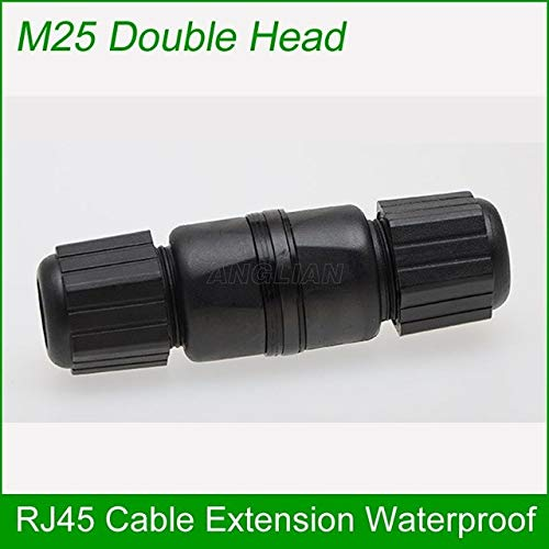 Buyme M25 Double Head Cat5E Cat6E Outdoor Rj45 Female to Female LAN Connector Ethernet Network Cable Extension Adapter Waterproof M25 Double Head