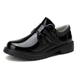 Boys Leather Shoes Children for Wedding Patent Leather Shoes Kids School Oxford Shoes Flat Fashion Etiquette Formal Dress Shoes 41 mcfn3WXL
