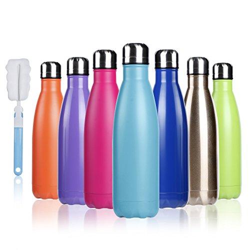 BOGI 500ml doppia parete in acciaio inox coibentato bottiglia di acqua, mantiene il vostro Bevanda...