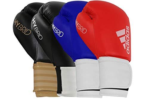 adidas Hybrid 100, Guanti da Boxe Unisex, White, 8 oz (236 ml)