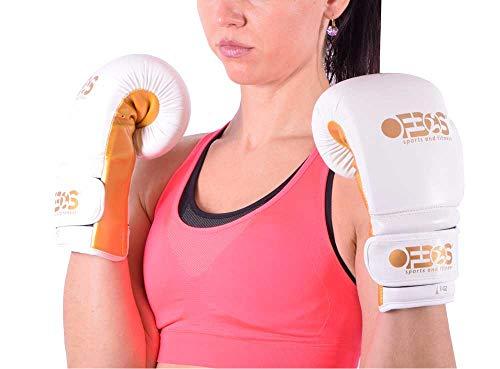 Ofbos Guantoni Boxe Allenamento in Pelle PU Flex Kick Boxing Muay Thai Pugilato MMA Gloves Guanti...