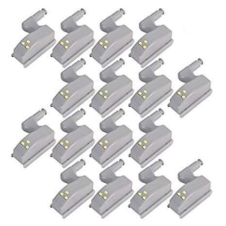 COSORO, 16 sensori con luce a LED per cerniere ante, luci notturne per guardaroba, soggiorno, camera...