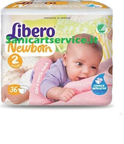 Pannolini libero newborn per bambini TG 2-108 PEZZI