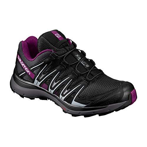 Salomon XA Lite W, Scarpe da Trail Running Donna, Nero (Black/Magnet/Grape Juice), 40 EU