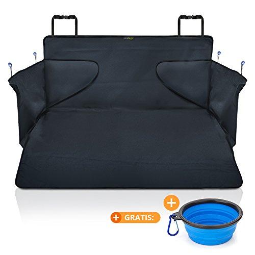 smartpeas Kofferraumdecke für Hunde XXL - Kofferraumschutz für jedes Auto fängt Nässe, Schmutz & Haare - Robuste Hundedecke mit Seitenschutz 185 * 105 * 36 cm