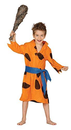 Guirca - Disfraz de Picapiedra, para niños de 5-6 años, color naranja (83351)