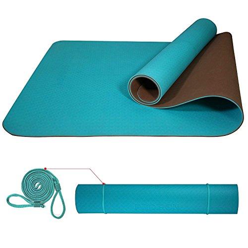 PROIRON Tappetino da Yoga Antiscivolo per Fitness Pilates Tappetini Yoga Professionale 6 mm...