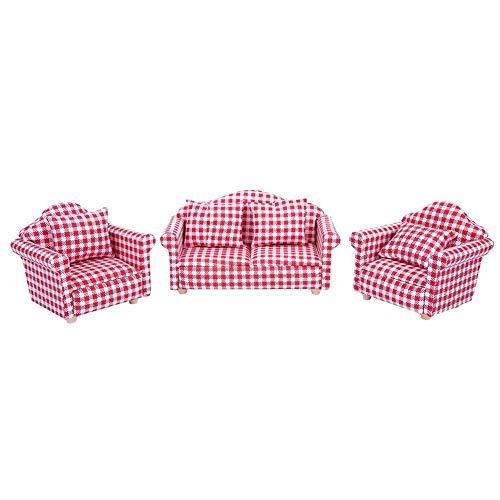 KEYREN Cuscino per Divano in Miniatura casa delle Bambole in Miniatura 1:12 Giocattolo per mobili in...