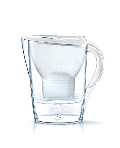 Brita Marella 2.4L water filter jug with cartridges bundle (white) (1 month of Brita Maxtra+) (1 cartridge)