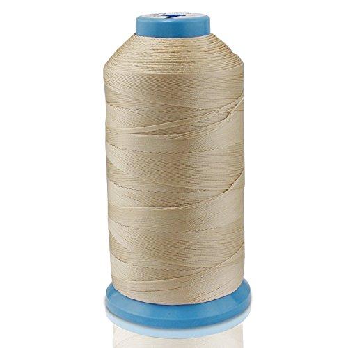 WheateFull La stretta forte filo nero Bonded nylon cucito per Outdoor, sedili in pelle, borse,...
