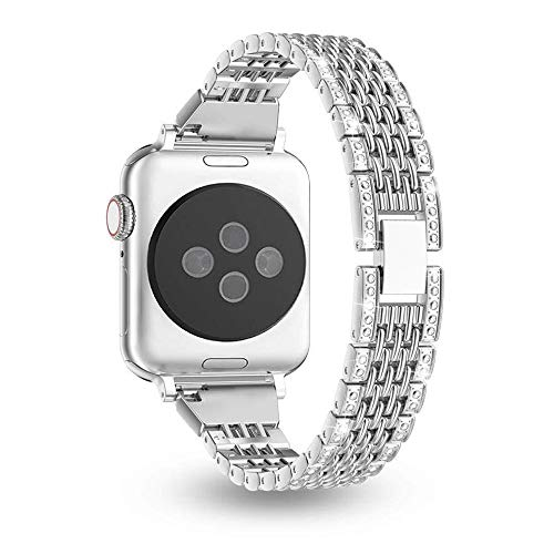 Myada Compatible per Apple Watch Series 3 38mm Cinturino Acciaio, Cinturino Apple Watch Series 4 40mm Braccialetto di Ricambio Inossidabile Orologio da Polso Band Donna per iWatch Series 4/3/2/1