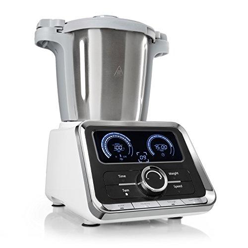 Klarstein GrandPrix - Robot da Cucina Multifunzione, Vaporiera, 500/1000W, Ciotola in Acciaio Inox,...